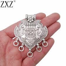 ZXZ <b>2pcs</b> Antique Silver <b>Large</b> Bohemian Boho Style Chandelier ...