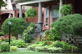 front yard flower garden plans. front porch with established yard landscaping flower garden plans a