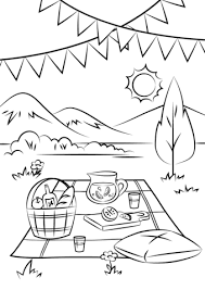 Small Picture Picnic Scene coloring page Free Printable Coloring Pages