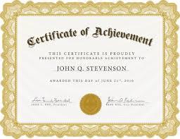 Samples Of Awards Certificates Award Certificates Letterhead Of Origin Address Label Example