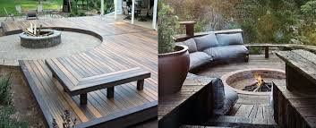 Likeable Deck Fire Pit Ideas At Top 50 Best Wood Safe Designs 47