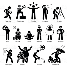 positive personalities character traits in stick figures starting positive personalities character traits in stick figures starting the alphabet p royalty