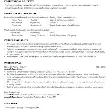 Aircraft Mechanic Resume Template Examples Industrial Maintenance