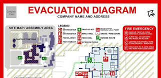 emergency evacuation diagrams   state one fire protection  amp  securityemergency evacuation diagrams