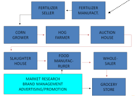 Prepare A Chart For Distribution Network For Different Products Food Marketing