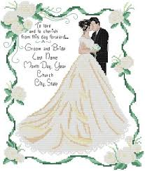 Wedding Cross Stitch Patterns Extraordinary Free Shipping 48 Counted Aida Wedding Anniversary Cross Stitch Kit