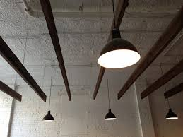 featured customer deep bowl pendants add industrial feel to classic barber