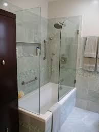 Interesting Simple Modern Bathtub Design Ideas Come With Cream Bath Shower Combo Faucet