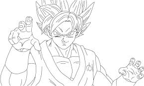 Ultra Instinct Goku Z Coloring Pages Ball Dragon