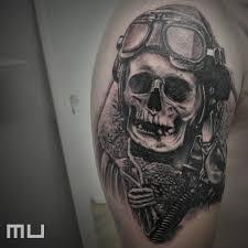Tetování Lebky Rameno Tetování Tattoo