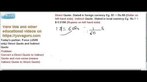 Jaiib Caiib Foreign Exchange Forex Direct Indirect Quotes By Vishal