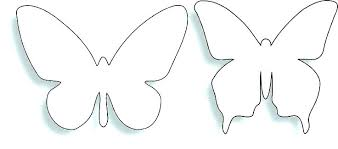 Outline Butterfly Printable Kids Coloring Template Pattern Block No