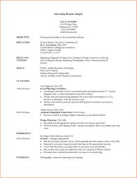 Sample Resume Format For Undergraduate Students New Resume Templates