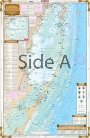 Sarasota Bay Nautical Chart Biscayne Bay To Florida Bay Inshore Fishing Chart 33f