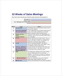 12 Sales Meeting Agenda Templates Free Sample Example