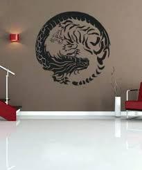 yin yang dragon wall art