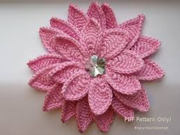 Crochet Flower Pattern For Headband Magnificent CROCHET FLOWER Flower Pattern Crochet Floral Pattern Etsy