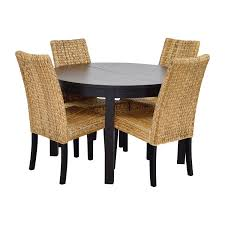 66 off macy 039 s ikea round black dining table set with