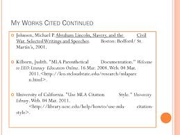 Ppt Mla Parenthetical Citation Works Cited Powerpoint