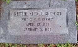 Nettie Kirk Lightfoot Parsley (1864-1954) - Find A Grave Memorial