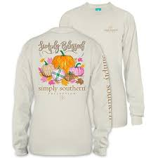 Simply Southern Size Chart Simply Southern Preppy Simply Blessed Pumpkin Fall Long