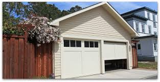 garage with 2 doors one appears to be broken