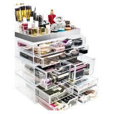 sorbus makeup storage organizer x large set 2 gold