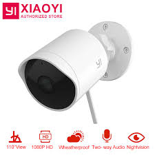 YI Xiaomi Outdoor Security Camera 40P HD Two Way Audio IP Classy Exterior Cameras Home Security Minimalist Collection