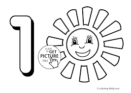 Small Picture 1 numbers coloring pages for kids printable free digits coloring