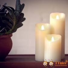 3pcs set luminara flameless candle with remote for decoration you can get additional