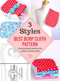 Free Patterns For Baby Bibs And Burp Cloths