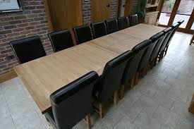very large dining room tables table and winchester solid oak chairs shown below seats 10 12 benchwright extending