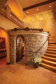 wine cellar lighting. Unique Mediterranean Wine Cellar With Rustic Charm [Design: Eldorado Stone] Lighting