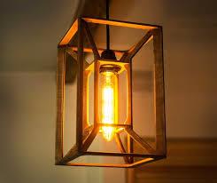 wooden pendant light modern ceiling