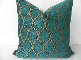 teal decorative pillows.  Pillows Decor Teal Decorative Pillows The Dark Green Velvet And Gold Color  Curved Lines Make Your Room More Colorful With Intended C