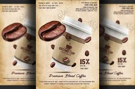 Coffee Shop Brochure Template Coffee Shop Promotion Flyer Flyer Templates Creative Market 20