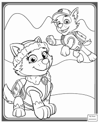 Everest Paw Patrol Coloring Page Free Badge Printable Pages Stock