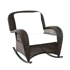 rattan patio chairs beacon park wicker outdoor rocking chair with cushions included choose your own color rattan patio chairs