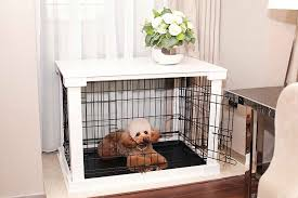 Dog crates furniture style Ideas Amazoncom Amazoncom Zoovilla Medium White Cage With Crate Cover Pet Supplies