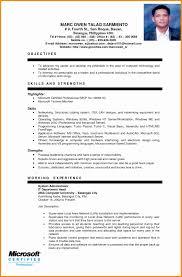 Resume Format For Ojt Resume Online Builder