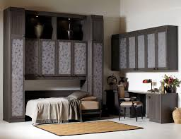 home office with murphy bed. California Closets Calgary - Side Tilt Murphy Bed Home Office With