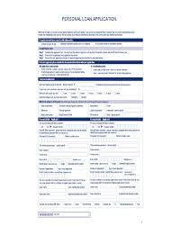 Loan Application Form 2019 Personal Loan Application Form Fillable Printable Pdf