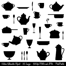 kitchen utensils silhouette vector free. Restaurant Clipart Utensil #7 Kitchen Utensils Silhouette Vector Free A