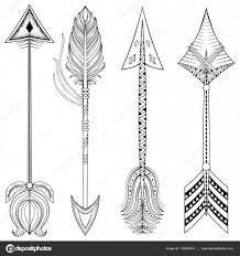 вектор этнические стрелы в Zentangle дизайн концепции руки Drawn