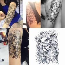 3d мужская половина рукава руки временные переводные татуировки с