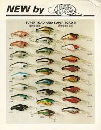 Vintage Bomber Lure Color Chart I Like This 1985 Hawg Boss Lure Sheet Vintage Fishing