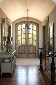 arched french doors front exterior wood light wooden door with o48