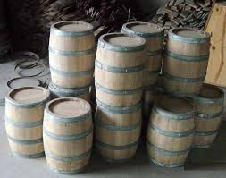 Barrel keg from reclaimed French wine barrel Cedar wood barrel stand