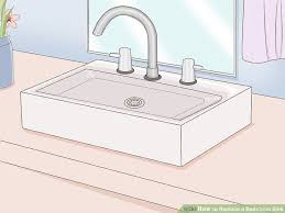 Install Bathroom Sink Gorgeous 48 Ways To Replace A Bathroom Sink WikiHow