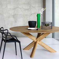 contemporary dining table oak round 50164 by alain van havre